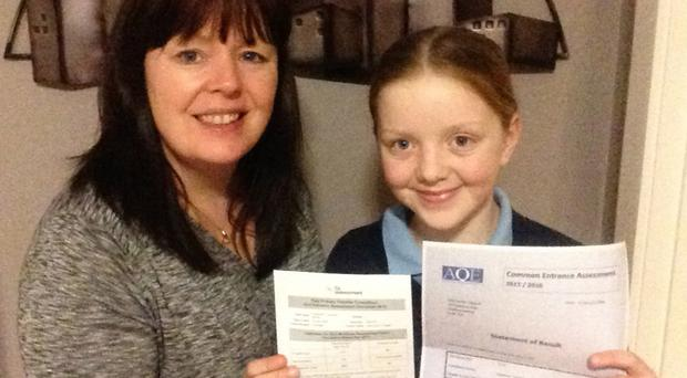 Deirdre Taggart and daughter Shannon, who sat five tests