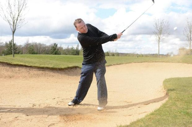 Billy McAllister in action on the course