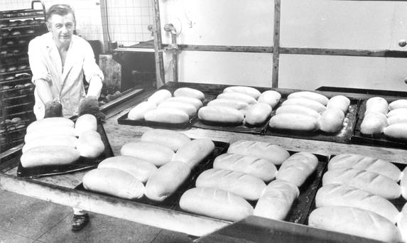Paul McErlean at work in the Arizona Street bakery in 1979