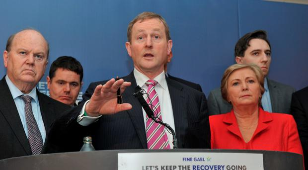 Enda Kenny makes his announcement in Dublin yesterday