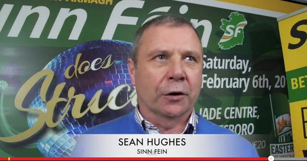 Sean Hughes appearing in the Strictly promotional video for Sinn Fein's Jade Centre fundraiser