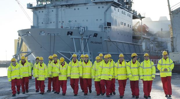 Cammell Laird handout photo of of 18 new apprentices who started work at the famous ship yard today.
