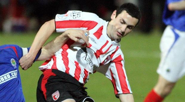 Derry City FC star Mark Farren was the club's record goalscorer and League of Ireland Player of the Year in 2005