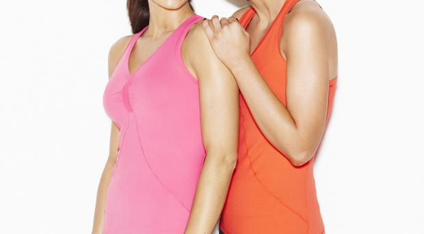 Christine Bleakley and her sister Nicola