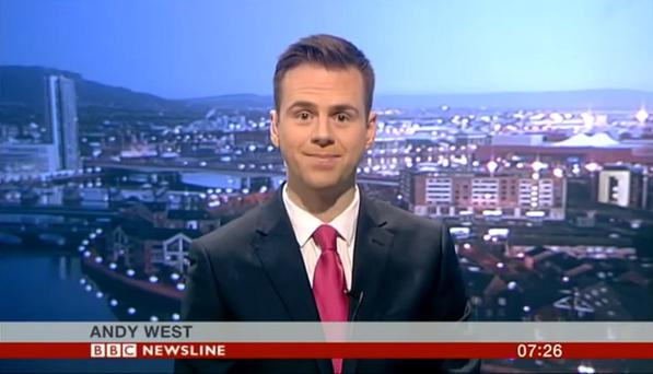 Andy West working on BBC Newsline