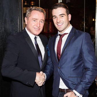 Connor Smyth (right) with Michael Flatley