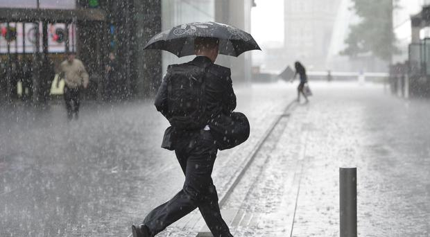 Heavy rain could lead to flooding in places.