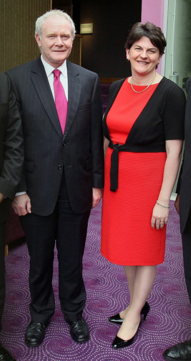 Arlene Foster with Martin McGuinness in 2011