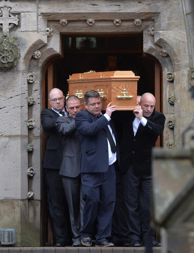 The funeral of Anthony McErlain at St Patrick's and St Brigid's Church in Ballycastle