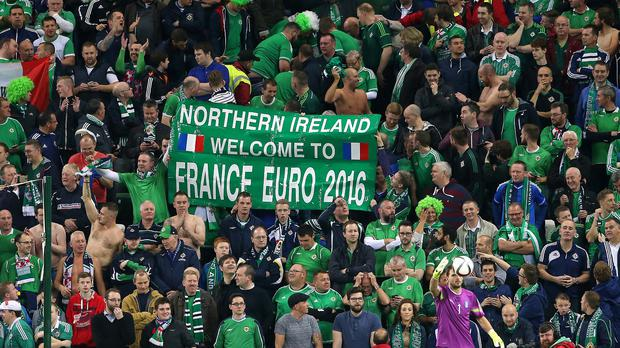 Northern Ireland fans at Windsor Park, Belfast