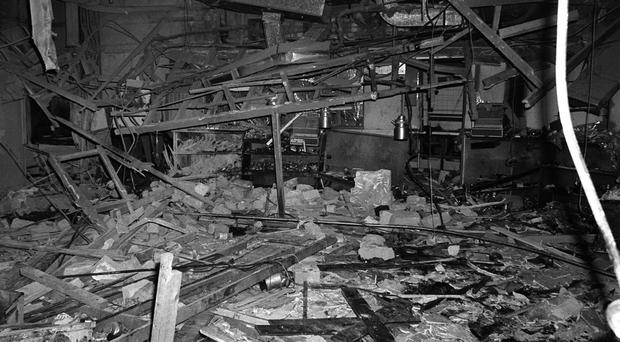 The wreckage left at the Mulberry Bush pub in Birmingham