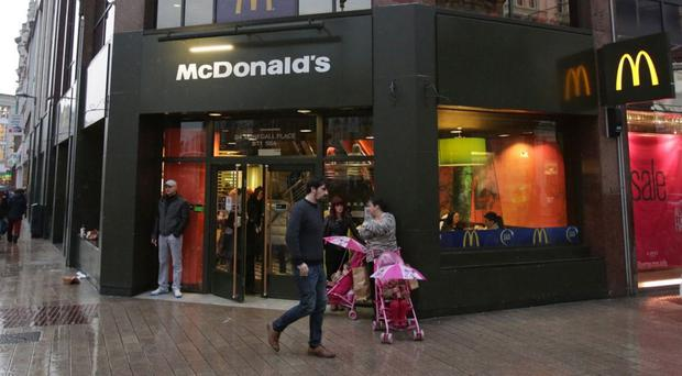 McDonald's at Donegall Place in Belfast city centre where the assault took place