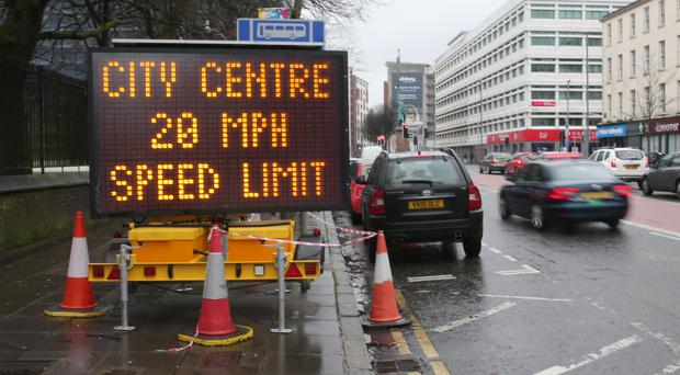 The 20mph speed limit was introduced on January 31