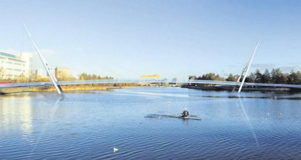 The design chosen for the proposed Gasworks Bridge