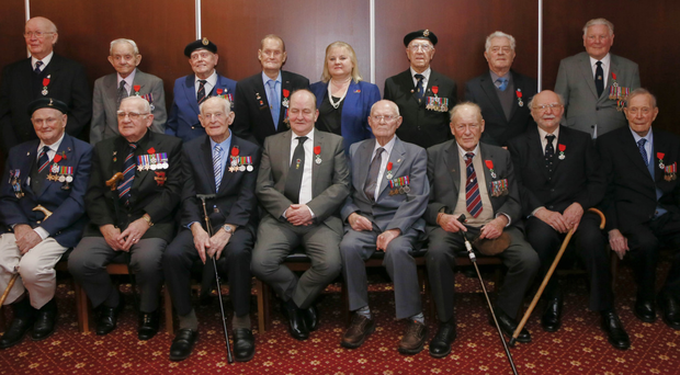 Veterans during the ceremony at Thiepval Barracks in Lisburn