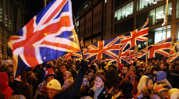 Loyalists were determined that the Union flag should fly from Belfast's City Hall