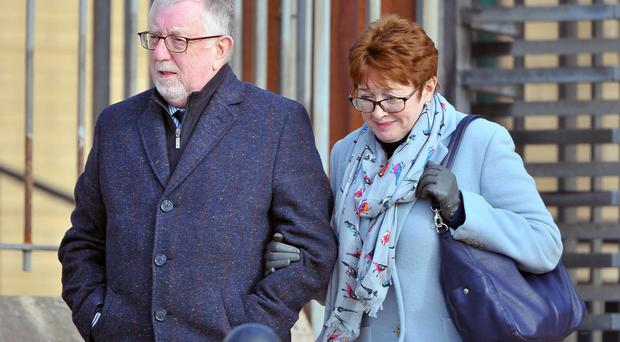 Ian McGoldrick and his Mary wife at an earlier court appearance