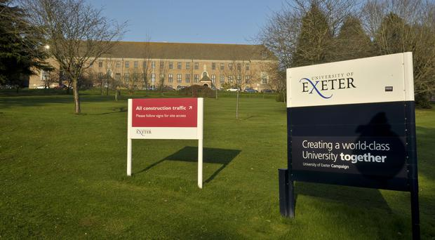 Exeter had the biggest fall in the proportion of students from state schools