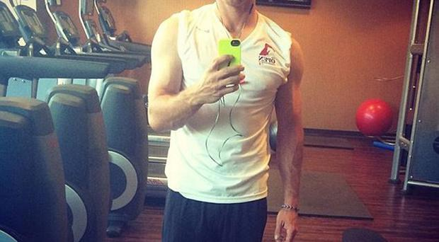 McIlroy has posted a video of himself on Twitter showing off his muscular physique