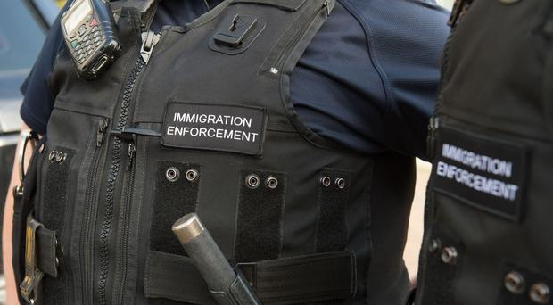 The restaurant was raided by officers from Immigration Enforcement