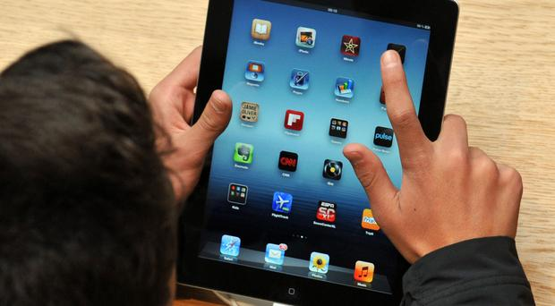 Some of the iPads were used by children with impaired hearing