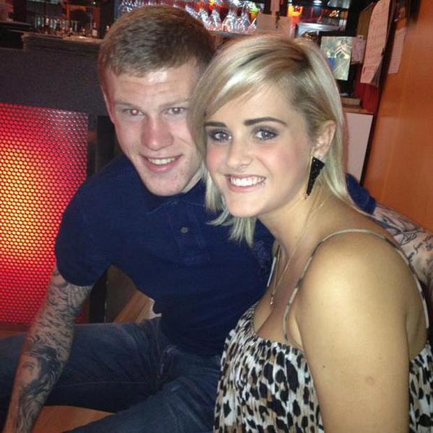 James McClean with fiancee Erin Connor
