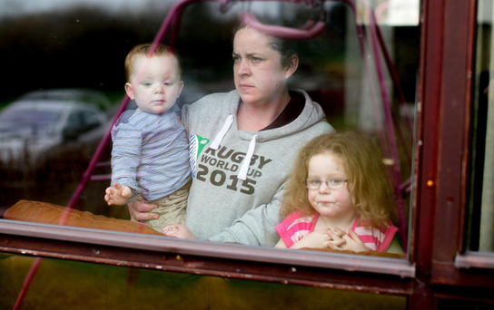 Samantha Craig, daughter of missing man Mervyn Craig, with her 16-month-old son Ethan and three-year-old daughter Bethany