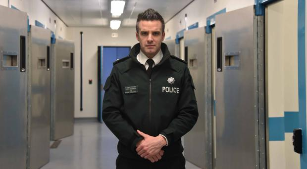 Superintendent Bobby Singleton in the PSNI's Musgrave custody suite (PSNI/PA)