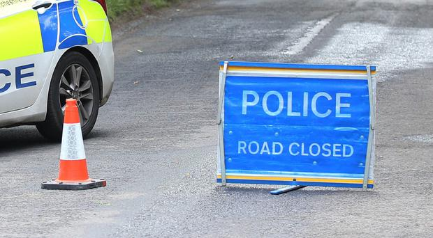The PSNI said diversions were in place after the collision