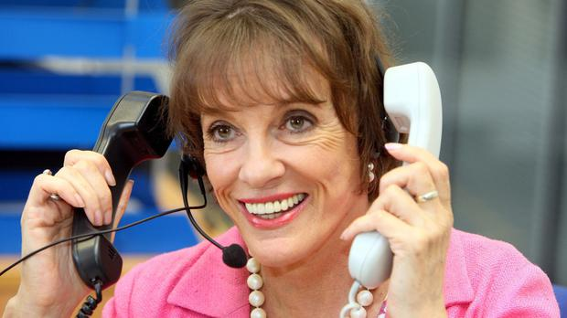 Dame Esther Rantzen in the ChildLine offices in Belfast during a previous visit