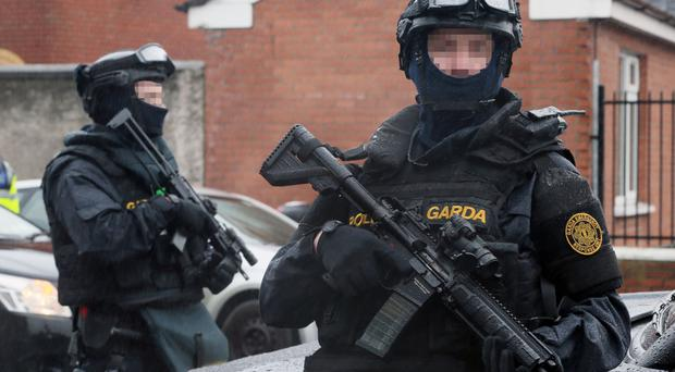 Armed Gardai on patrol in Dublin