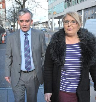 Retired Kent Detective Superintendent Colin Murray outside court yesterday with Arlene Arkinson's sister Kathleen