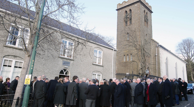The funeral of the Rev David Somerville at St Matthew's Church, Richhill