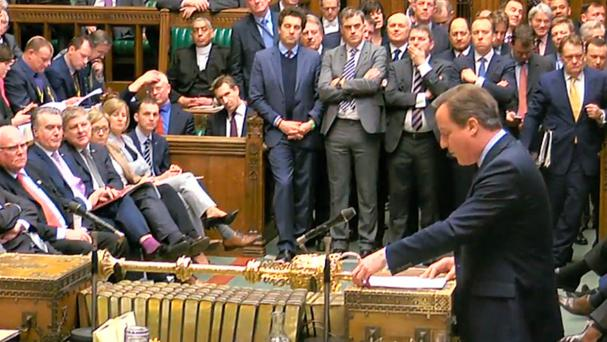 David Cameron spells out his reasons for staying in the EU to the House of Commons yesterday