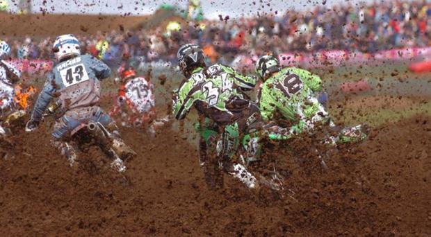 Riders compete in the Motocross event in Moneyglass which was organised by the events company