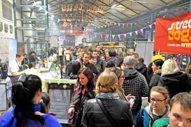 St George's Market in Belfast was packed with enthusiastic shoppers for the last Twilight Market.