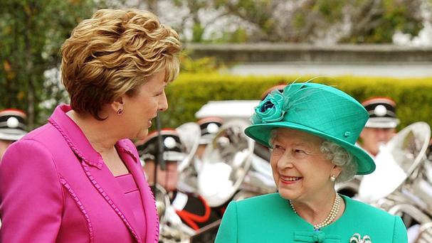 Mary McAleese with the Queen