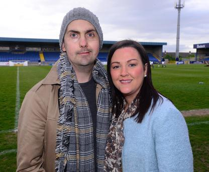 Former Derry City striker Mark Farren, who has died of cancer, and his wife Terri-Louise