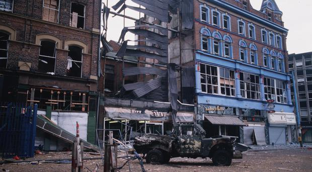 The explosion in Royal Avenue in 1988