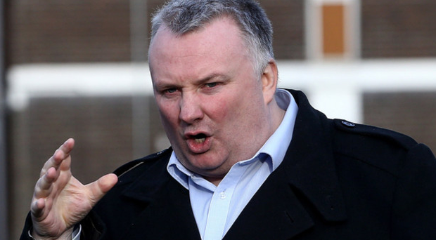BBC presenter Stephen Nolan was left deflated at the side of the road.