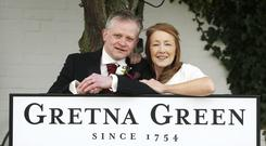 Neil Hutchison with his wife Heather got married at Gretna Green