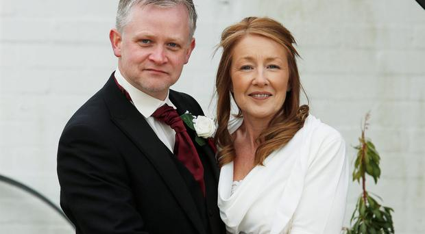 Neil and Heather at Gretna Green