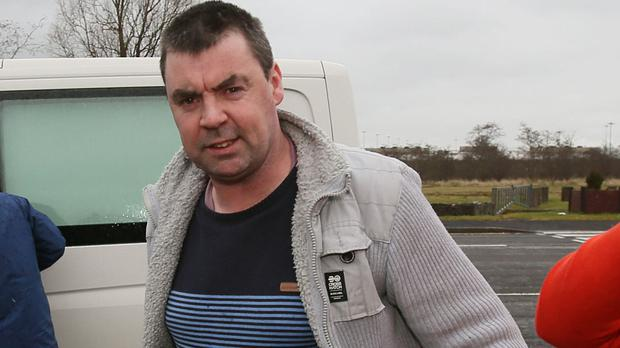 Seamus Daly, who was charged with murdering 29 people in the Omagh bombing, leaves Maghaberry prison after the case against him was dropped