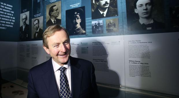 Enda Kenny attends the launch of 'Proclaiming a Republic: The 1916 Rising exhibition' at the National Museum of Ireland in Dublin