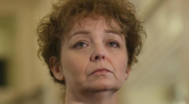 Stormont's sports minister Caral Ni Chuilin walked out of her Assembly scrutiny committee