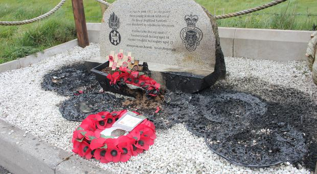 The memorial to the soldiers has been constantly vandalised