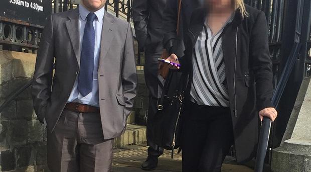 Daryl Kirton (left) and Che McManus leaving court
