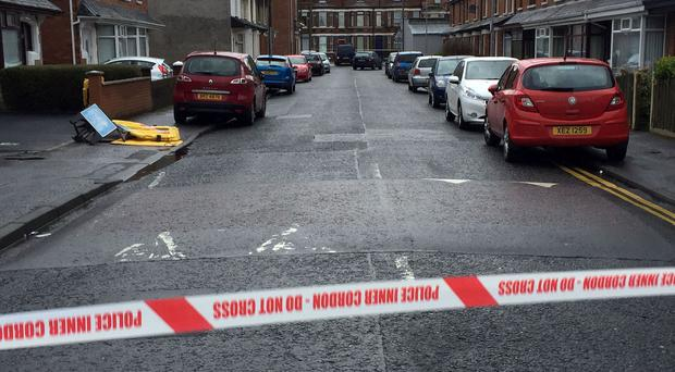 The Belfast street where a prison officer was injured in a blast on Friday morning
