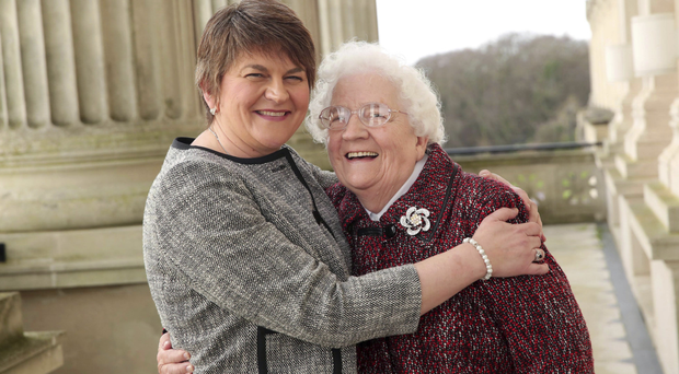 Arlene with her mum Georgina