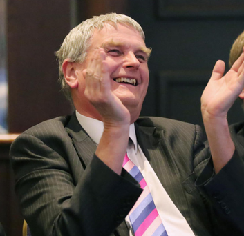 Jim Wells was in high spirits at the DUP conference at weekend